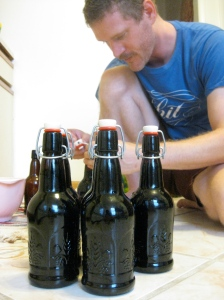 Final step: bottling. Now, we wait.